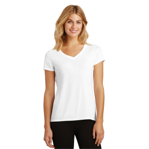 District Made® Perfect Tri V-Neck Tee - Ladies