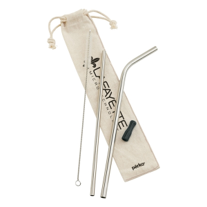 Stainless Steel Straw Set - Perka® Avila 5 Piece